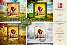 4 Seasons Grunge Mockups by Minkki on @creativemarket