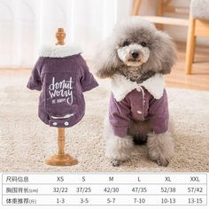 Material: CottonSeason: WinterSuit For: Small medium dogsFeature: softPattern: PrintedSeason: WinterType: Cats Teddy Bear, Warm, Dogs, Clothing, Animals, Clothes, Animais, Animales, Animaux