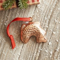 Sur La Table Christmas Tree Kitchen Ornament -- Maybe Dolly Size? Copper Ornaments, Kitchen Ornaments, Christmas Decorations, Christmas Ornaments, Holiday Decor, Ag Doll Crafts, Christmas Tea, Ag Dolls, Trees