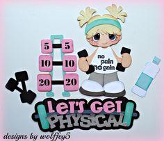 ELITE4U GIRL EXERCISE Premade paper piecing scrapbook diecut piece page album 3D