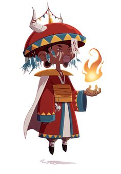 The Tribal Wizard! The last of the characters I did for the Forgotten Forest, hope you like it! :) If you want to see the process, you can v...