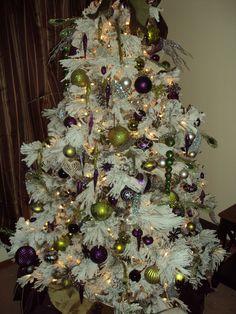 Green and Purple Christmas tree