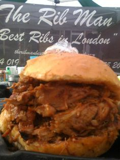 """Kings Cross - the rib man (food vendor) // """"find me on the pedestrian road that runs from st pancras international to the UAL university of the arts london"""""""