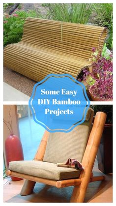 Wonderfull DIY Bamboo Projects #bamboo Outdoor Chairs, Outdoor Furniture, Outdoor Decor, Bamboo Ideas, Bamboo Crafts, Project 4, Furniture Makeover, Easy Diy, Diy Projects