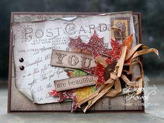 distressed card