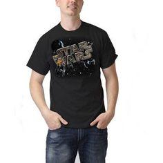 Star Wars Big Men's Realtree Chase Logo Graphic Tee, Black