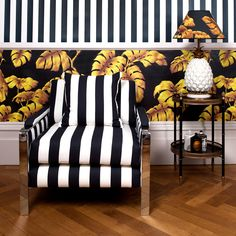 #Tarovine and #LondonStripe make a perfect partnership for monochromatic D R A M A. Available across interiors and furnishings.