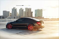 Mercedes-Benz C63 Black Series by Fiveninedesign on Red ADV1 Wheels