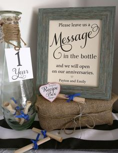 Please leave us a Message In The Bottle and Mini Tags by RecipeBox
