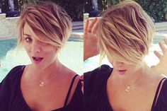 Pretty sure this is my next haircut, love it Kayley Cuoco!