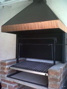 EL QUINCHO - PARRILLAS Parilla Grill, B&q Kitchens, Parrilla Exterior, Bbq Places, Kitchen Grill, Slate Roof, Charcoal Grill, Outdoor Cooking, Outdoor Living