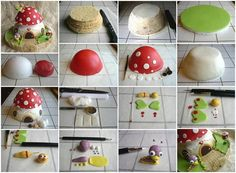 Mushroom House Cake TUTORIAL