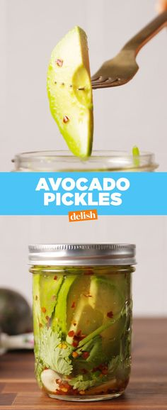 You NEED to know about Avocado Pickles. Get the recipe at Delish.com.