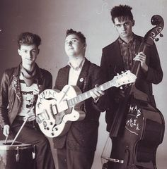 The Meteors promo 1980, psychobilly, rockabilly, music, band, punk