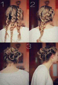 Triple braid #hair #braids