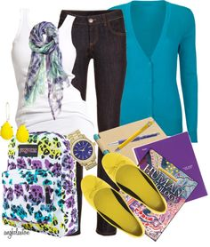 """School Time"" by angkclaxton on Polyvore"