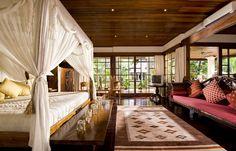 Location d'une villa de luxe à Bali avec grande chambre  #chambreBedroom #BaliHome #LuxuryVilla