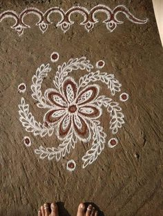Beautiful 👌👌👌 Easy Rangoli Designs Videos, Easy Rangoli Designs Diwali, Indian Rangoli Designs, Rangoli Designs Latest, Rangoli Designs Flower, Free Hand Rangoli Design, Rangoli Border Designs, Small Rangoli Design, Rangoli Designs Images