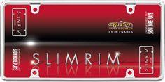 Slim Rim, Chrome License Plate Frame