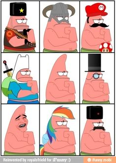 Faces of Patrick / iFunny :)