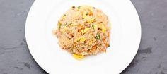 Stegte ris med bacon | ベーコン チャーハン | beekonn cyaahann Nasi Goreng, Wok, Fried Rice, Tapas, Fries, Bacon, Chinese, Ethnic Recipes, Soy Sauce
