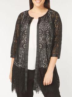 Live Unlimited Black Lace Jacket - Winter Savings - Sale & Offers - Evans Europe