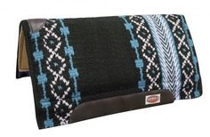 """36""""x34"""" TURQUOISE Shock Absorbent Memory Felt Bottom Cutter Style Saddle Pad NEW #Showman"""