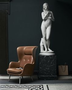 Ro easy #chair #leather version. A #design by Jaime #Hayon for #Danish #FritzHansen