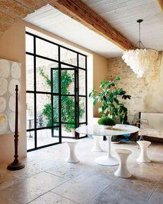 steel windows and tulip table