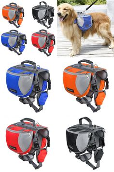 [Visit to Buy] Pet Dog Saddle Bag Pack Backpack Medium and Large Big Dogs Bag for Outdoor Hiking Camping Training Pet Carrier Product #Advertisement