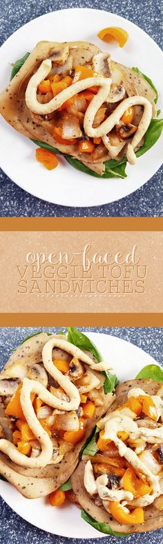 #AD These open-faced veggie tofu sandwiches get an extra kick from Sabra Spreads! Wholesome and delicious, they are perfect for a quick and easy lunch.