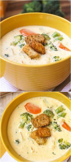 Copycat Panera Broccoli and Cheese Soup - seriously, so good!! { lilluna.com } #soup