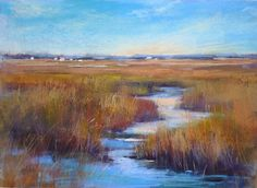 Behind the Scenes: Another Painting Transformed into a Marsh -- Karen Margulis