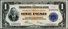 1918. One peso bill (antiquemoney.com) Filipiniana, Banknote, Manila, Vintage Photos, Philippines, Accounting, Prayers, Knowledge, 1