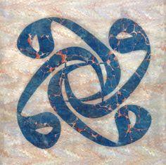 "Akkase - ""Dörtlü Vav"" Hat - Mesut Dikel Ebru Art, Arabic Calligraphy Art, Marble Art, Scroll Saw, Fashion Sketches, Art Forms, Mystic, Fine Art, Drawings"