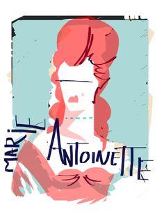 Marie Antoinette, by illustrator David Andrews