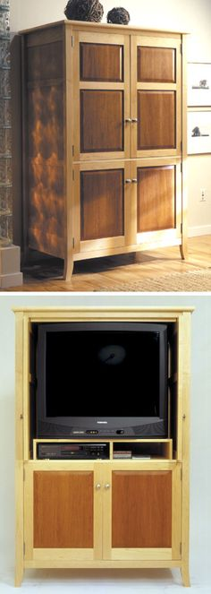 INTERMEDIATE: Armoire / TV Entertainment Center Woodworking Plan from WOOD Magazine