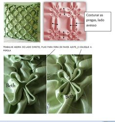 Textured fabric tutorial by Beth at Almofadas em Capitonê