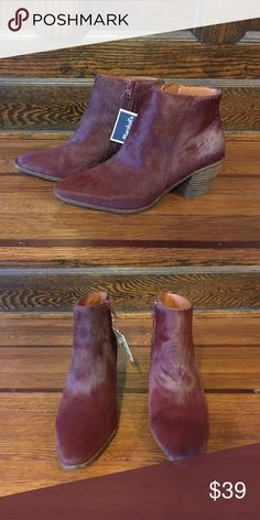 Lucky Brand ankle boots Mahogany Lucky Brand boots. Size 7.5. NWT Lucky Brand Shoes Ankle Boots & Booties