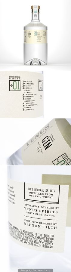 Chen Design Associates creates Venus Spirits, a new brand of artisanal, organic, small batch, locally sourced gin from Santa Cruz, CA. Venus Spirits was started by former brewmaster Sean Venus.