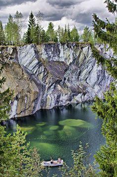 Ruskeala Marble Canyon, Karelia, Russia                                                                                                                                                     More