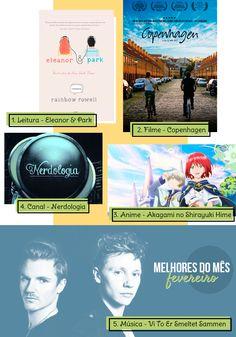 Todo mês indico 5 coisas legais que conheci no mês. E neste mês tem indicação de #livro #filme #youtube #anime #música ♥  #netflix #geek