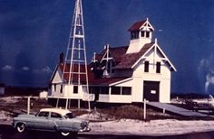 The North Beach Life-Saving Station, shown in 1953, was located about 10 miles south of Ocean City.