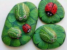 Painted rocks #DIY::