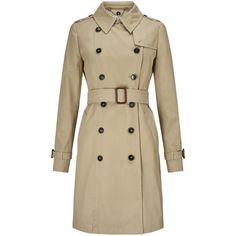 Weekend by MaxMara Victor Trench Coat, Camel (2,005 PEN) ❤ liked on Polyvore featuring outerwear, coats, double breasted coat, camel coat, trench coat, weekend max mara and camel trench coat