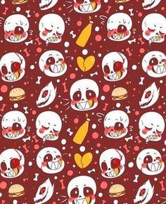 cute, red, sans, wallpaper, undertale, underswap, gaster blasters