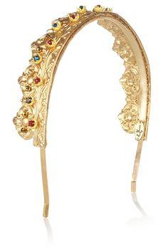 Gold-tone crown headband, Eugenia Kim