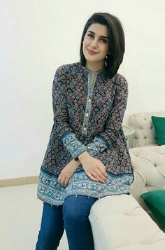 Latest Summer Short Frock Fashion for Girls - Mode Für AlleCrazy Jeans with Frock for Upcoming Summer Fashion Look – Designers Outfits CollectionGuidelines on how to improve your an understanding of fashion outfitsKubra khan after beautiful Pakistani Fashion Casual, Pakistani Dresses Casual, Pakistani Dress Design, Indian Fashion, Pakistani Girl, Short Kurti Designs, Kurta Designs Women, Frock Fashion, Fashion Dresses