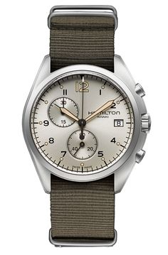 Pilot Pioneer Chrono Quartz, Hamilton #reloj #watch