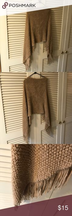 Cozy tan poncho Cozy tan poncho Tops